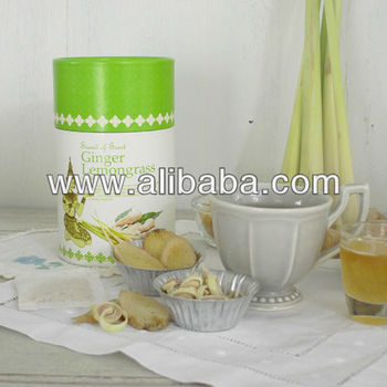 Thailand Natural Ginger Herbal Tea mix Lemongrass with nice package