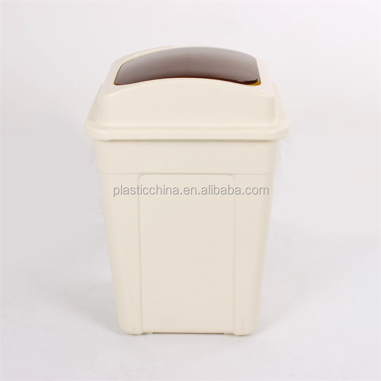 30 liter square waste bin with swing cover/ garbage bin