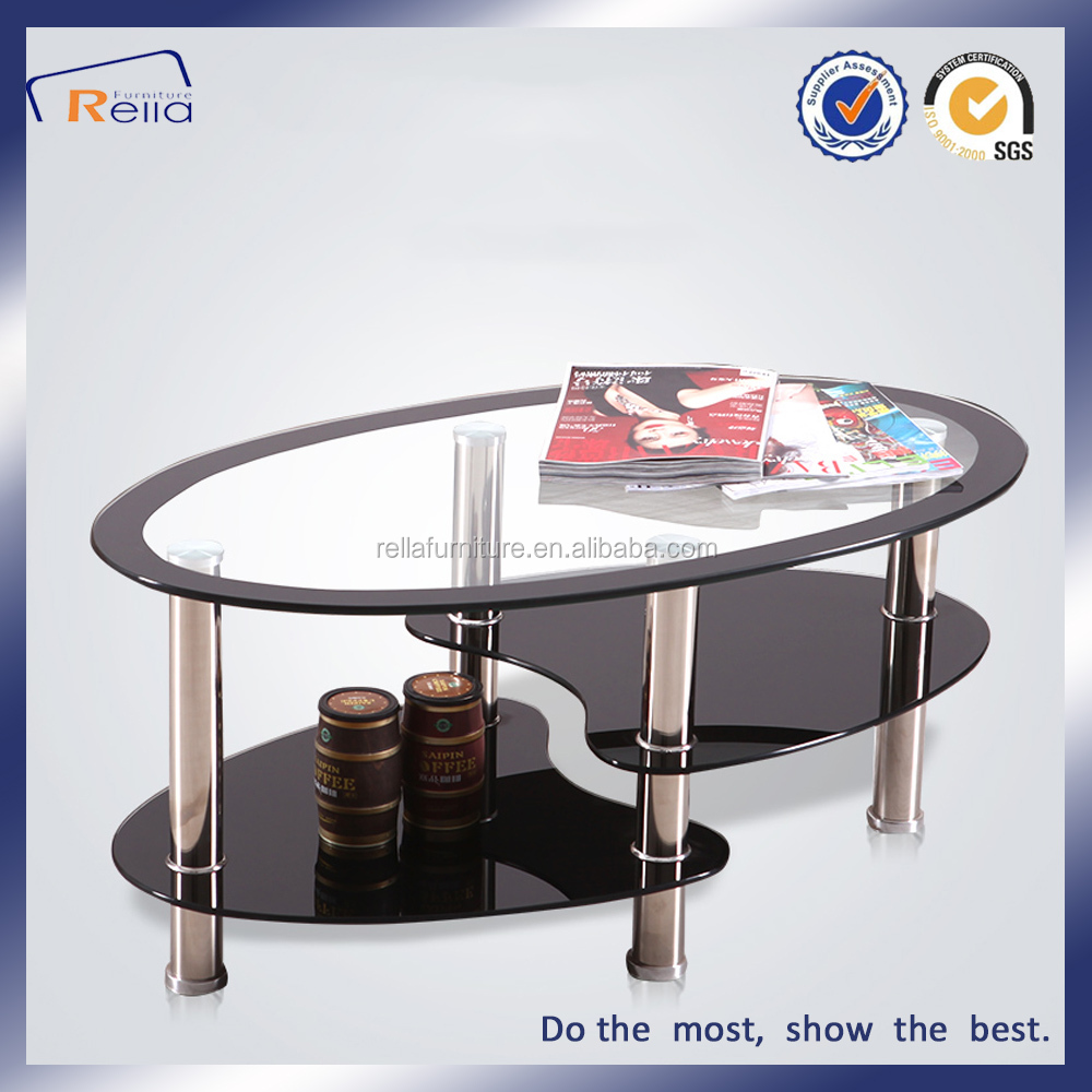 Nice Design Eco-Friendly Two Layer Tempered Glass Coffee Table/Tea Table