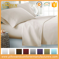 New Arrival cheap factory directly flat sheet fitted sheet pillow case in a set with rubber elastic