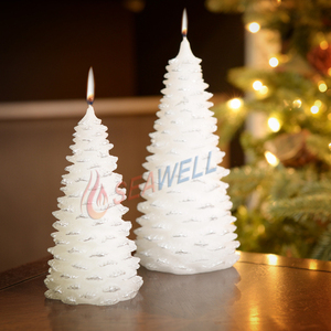 colourful beeswax and paraffin wax pine cone tree shaped Christmas Candles for sale