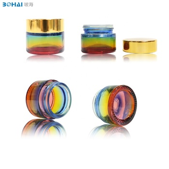 bohai glass  Hot new products god cap with glass cosmetic jar