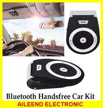 New Stereo Bass Speakerphone Bluetooth Car Kit Handsfree Sunvisor Wireless Handfree Car Bluetooth Phone Speaker Bluetooth V4.0