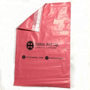 custom logo printed self adhesive sealed garment clothing shipping envelope bag plastic poly mailer