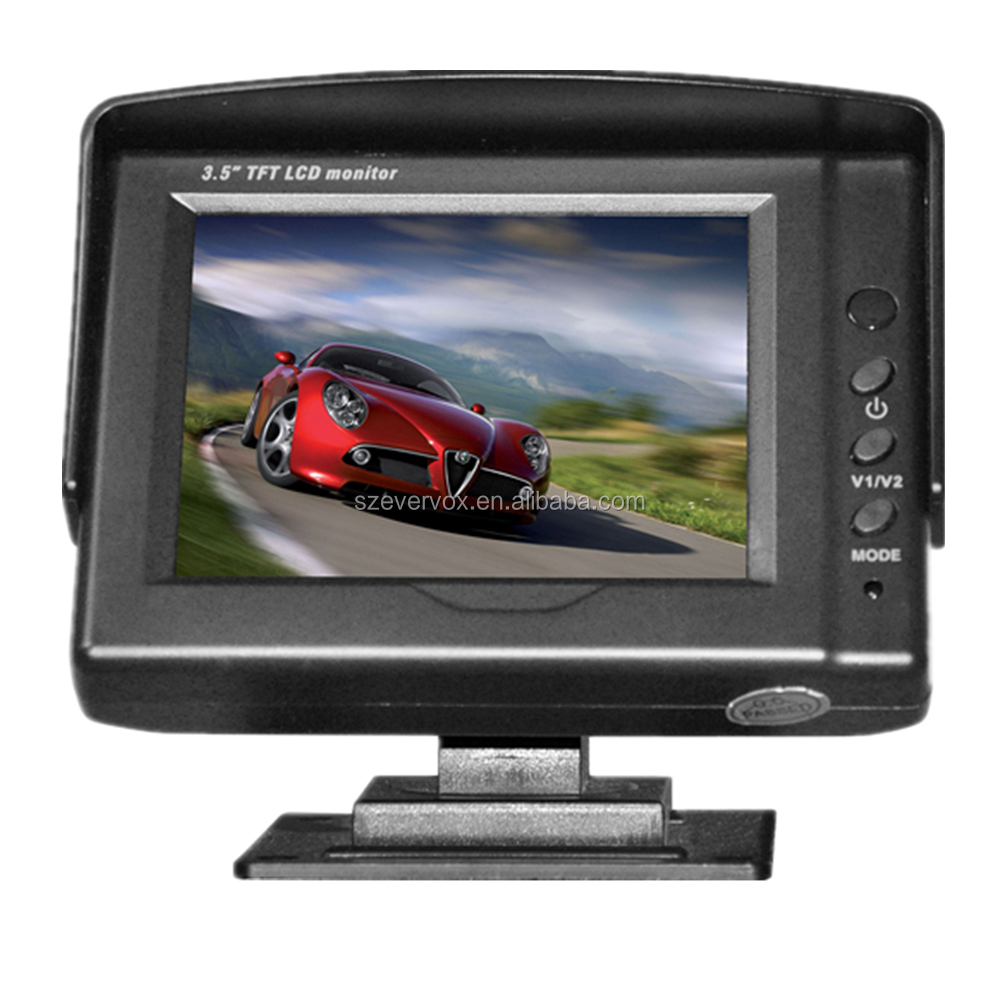 3.5 Inch Resolution 320*240 TFT LCD Display 2 Ways Input Car Monitor
