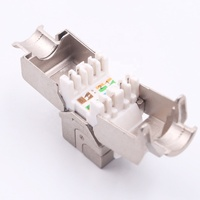 new type toolless 180 degree rj45 ftp cat6a keystone jack,network module