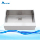 Luxury 30 Inch Modern White Stainless Steel Fabricated Drop-In Apron Farmhouse Kitchen Sink