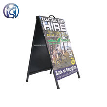 Outdoor foldable advertising pavement sign free standing metal folding a frame pavement sandwich poster board