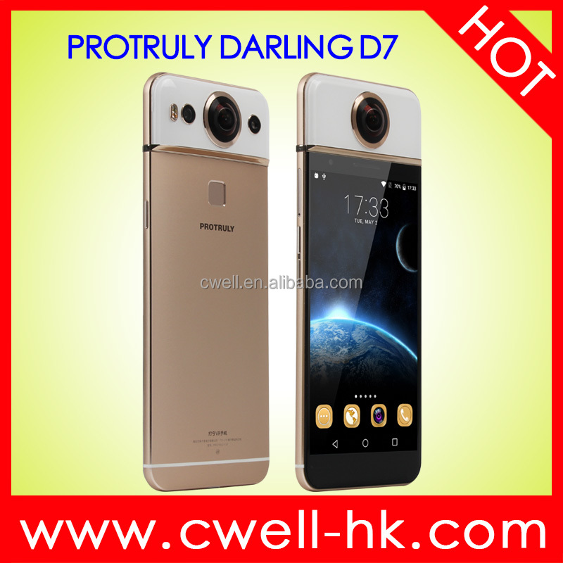 5.5 Inch FHD Screen PROTRULY DARLING D7 Dual SIM 26MP 360 Degree 4K VR Camera 4g China Smartphone