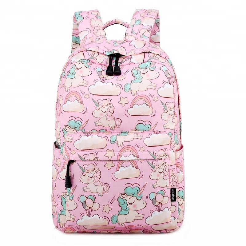 कस्टम मुद्रित लड़कियों गेंडा के लिए backpacks के स्कूल बैग बैग