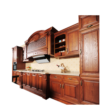 Wholesale Manufacture Solid Wood Kitchen Cabinets Modular Wooden