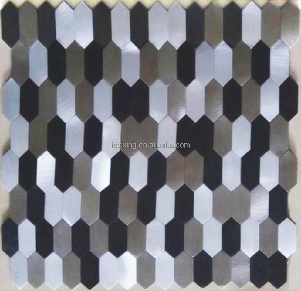 2017 trending products long hexagon shape aluminium plastic mosaic tile for backdrop and background wall panel