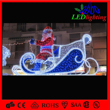 Esculturas de papá noel led exterior navidad light led 3d ciervos motivo decoracion light para centro comercial