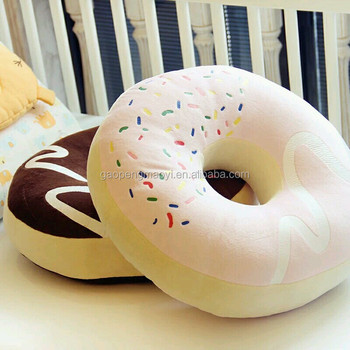 Creative Doughnut Printed Plush Stuffed Food Shaped Pillow Toy Pillows