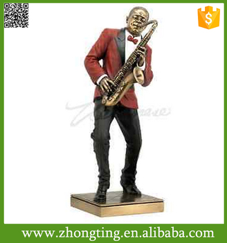Fashion Handmade Modern Home Decor Jazz Band Collection Saxophone Sculpture