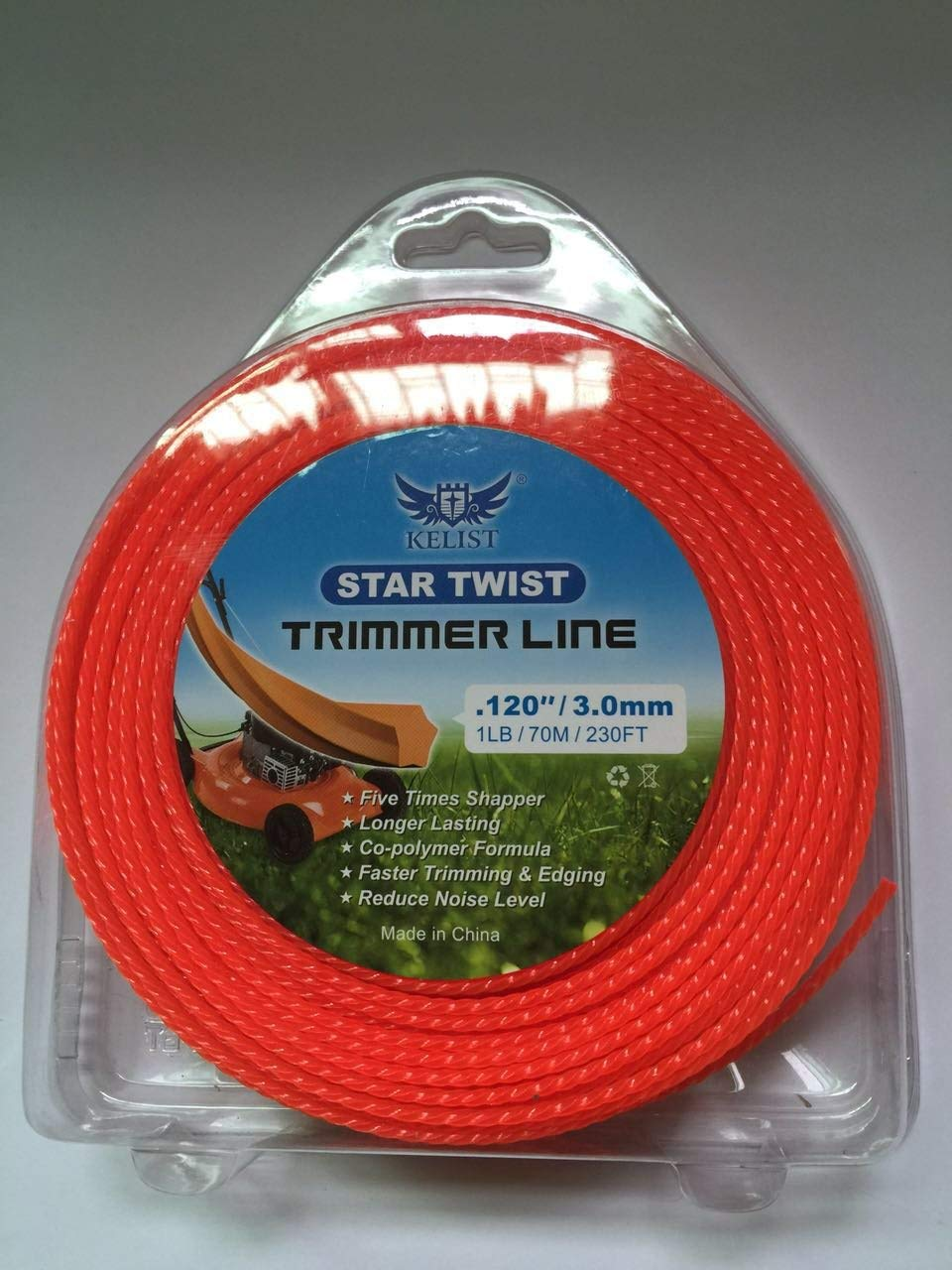"SUNG-LL KELIST Trigon Twist Trimmer LINE 1LB/0.080""/2.0MM;1LB/0.095""/2.4MM; 1LB/0.120""/3.0MM"