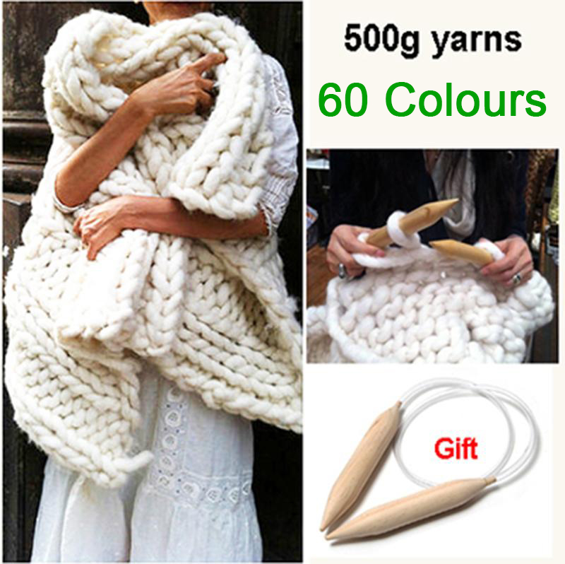 купить супер толщиной пряжи для вязания высококачественного толстая