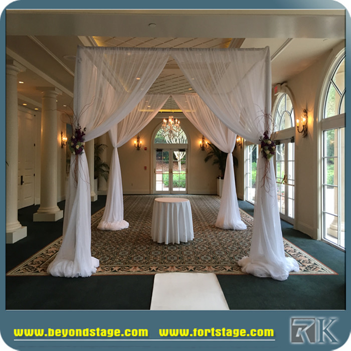 On sale pipe and drape wedding church backdrop decoration with stands