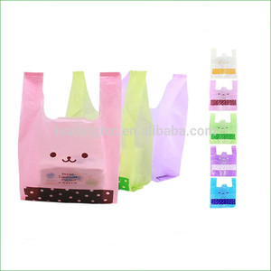 Wholesale Custom Printed HDPE Food Fruit Clothes Toy Gift Plastic Shopping Bags Transparent Packaging Bags