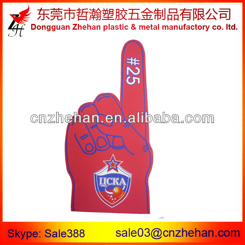 Highly cheer up promotion EVA foam finger for club