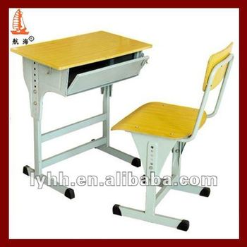Closed Lockable OEM Middle School Antique Student Desk For Sale