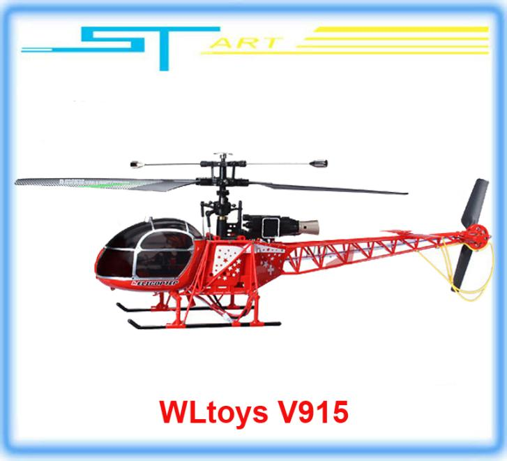 2014 New Version WLtoys V915 2.4G 4CH Gyroscope RC Helicopter RTF VS V911 V912