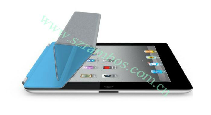 Slim Magnetic Smart Cover Wake/Sleep PU Stand leather Case for iPad 2/3