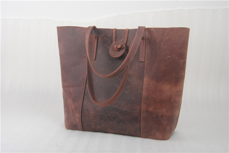 Vintage style fashionable lady leather tote bags