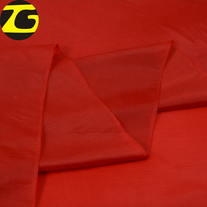 Good price red dyed lightweight lining 68D polyester taffeta fabric 230T