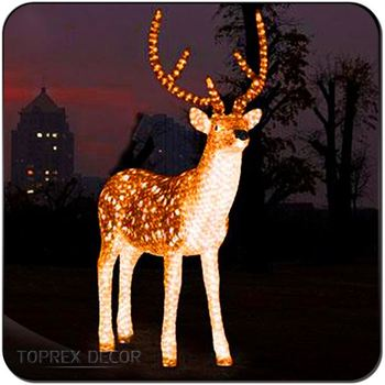 animated lighted reindeer christmas decoration