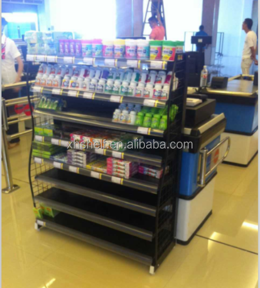 hot selling chew gum display shelving&display chewing in supermarket