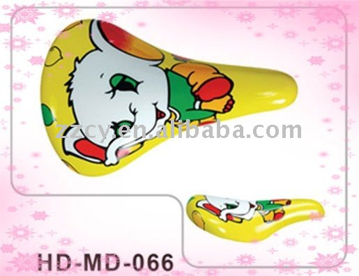 leather bicycle saddle/yellow bicycle saddle for kids cycle