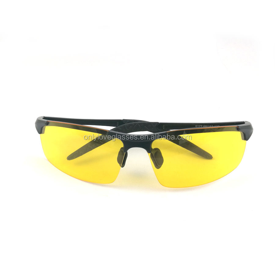 Rimless Aluminium night driving glasses