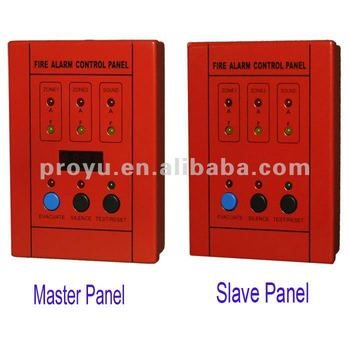 2 Zone Fire Alarm Control Panel One Master Panel Can Connect 31 Slave Panel Max