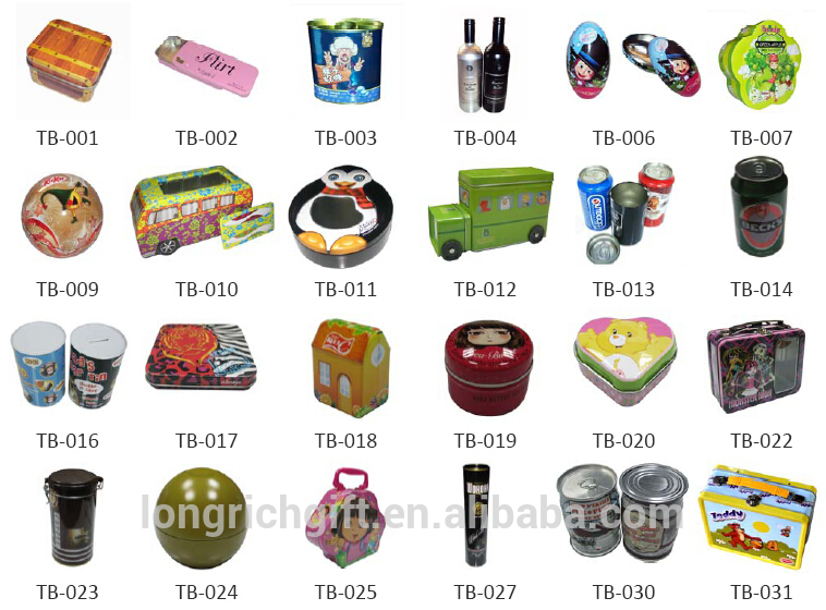 Wholesale round cookie tin cans