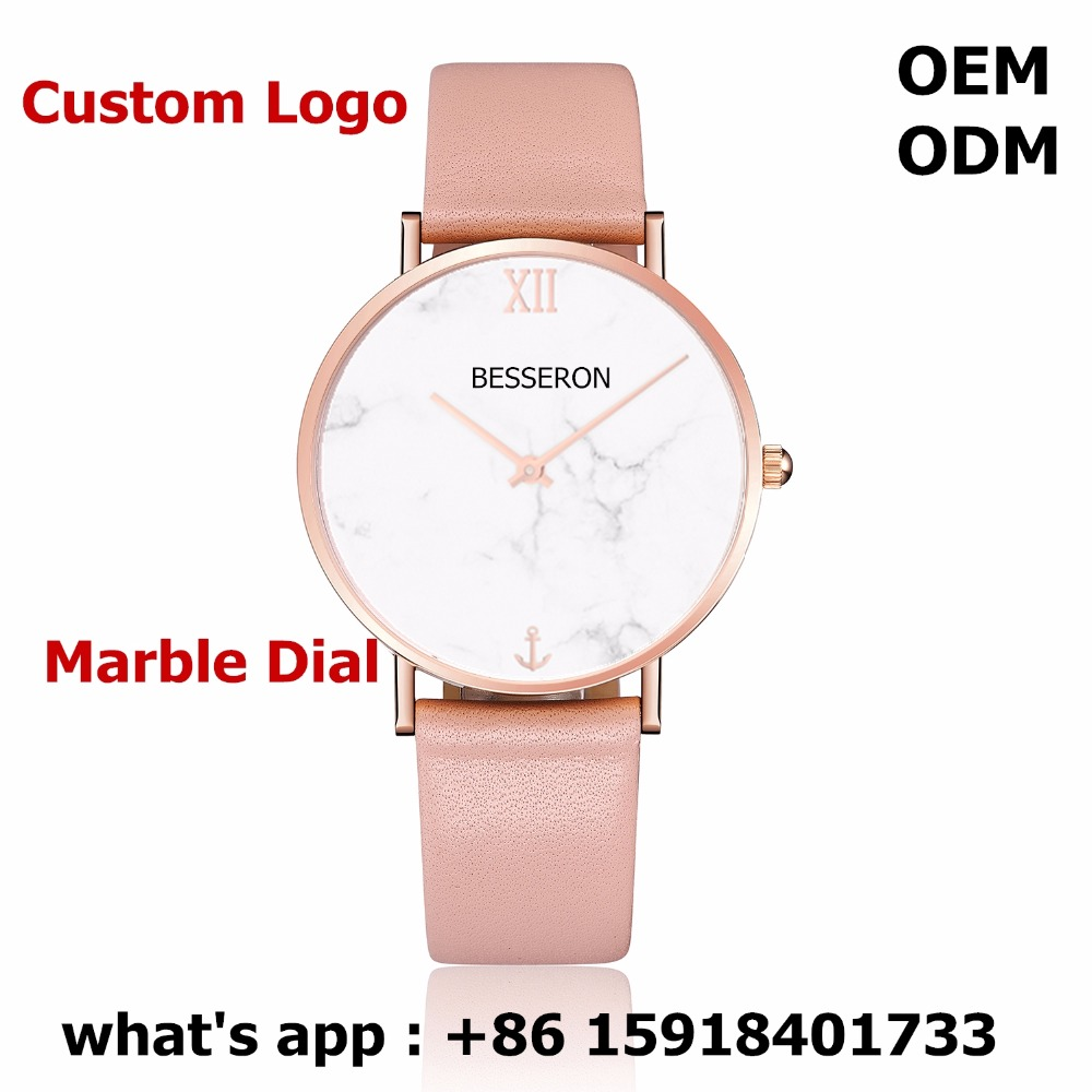 OEM marble watch japan MIYOTA quartz movt minimalist timepieces stone dial wirst watch 32mm cusom logo rose gold women watches