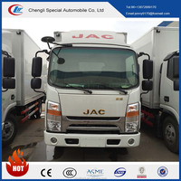 3-8tons JAC carrier or thermo king chiller truck/mini chiller van for milk ,fruit ,fish