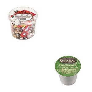 KITGMT14737OFX00013 - Value Kit - Celestial Seasonings Decaffeinated Green Tea K-Cups (GMT14737) and Office Snax Soft amp;amp; Chewy Mix (OFX00013)