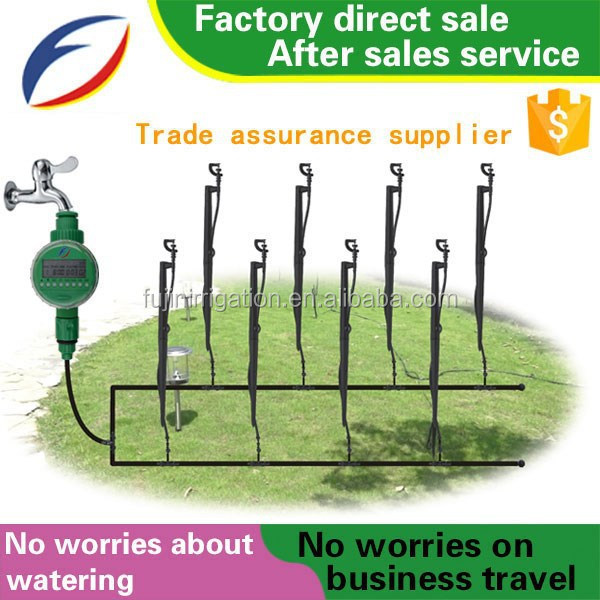Garden Automatic Micro Nozzle Thread Sprinkler With Battery Timer ...