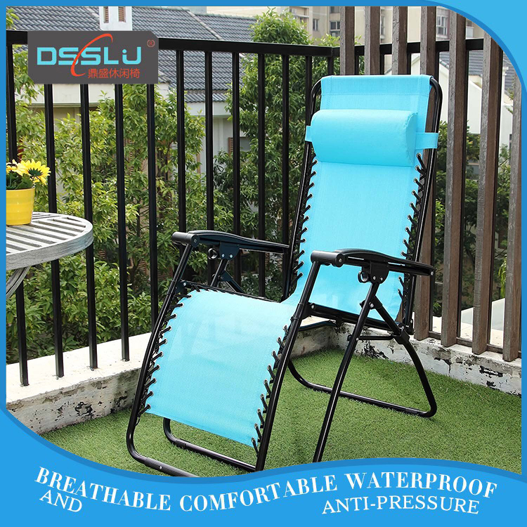 Adjustable Recliner Zero Gravity Patio Terrace Lounge Folding Chair