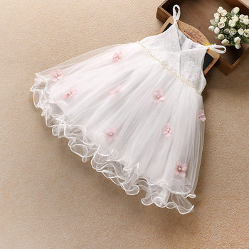B21927A Summer little girls pretty flowers dress cute girls beautiful little fairy Dress