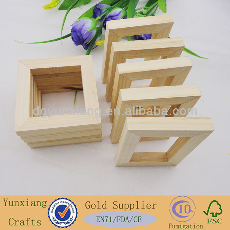 Unfinished Square Wooden Frame In Pieces - Buy Unfinished Square ...