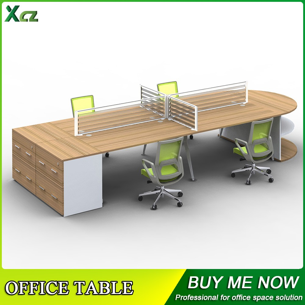 2016 contemporary melamine 4 person office desk modern glass desk office furniture exclusive office