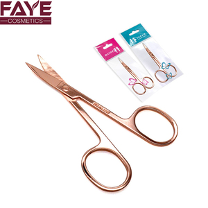Luxury Eye Makeup Tool Stainless Steel Rose Gold Beauty Eyebrow Scissors