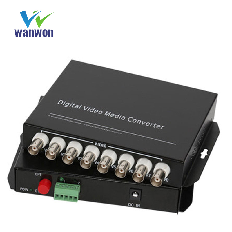 8 kanäle Video Media Konverter mit RS485 daten Video Fiber optic Media Converter für CCTV