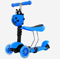 Alibaba china factory wholesale cheap price three wheel sit down scooter for kids