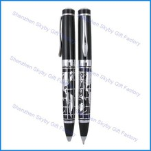 MP122 World Map Engraved Metal Aluminum Ball Pen
