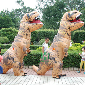 HI CE 2017 colorful inflatable dinosaur costume,inflatable t rex for sale