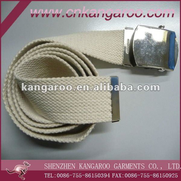 T/C canvas and iron buckle belt for army