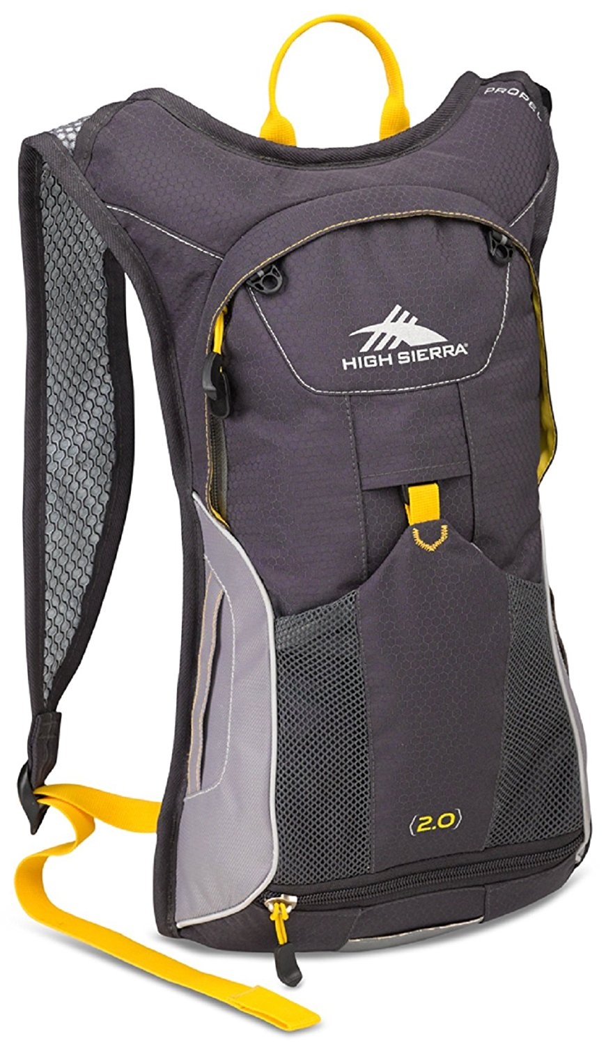 High Sierra Propel 70 Hydration Backpack Pack with 2L BPA Free Bladder: Perfect for Hiking, Running, Cycling, Biking, Climbing, Hunting, and Outdoor Activities